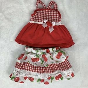 Little Lass Baby Girls Picnic Cherry Retro Outfit